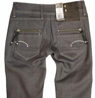 G-Star Womens Jeans Size W-25 L-34 Fender Skinny Comfort Grey capter Denim New