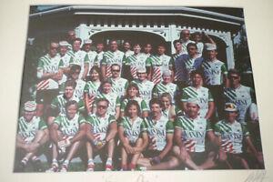 Della Santa Vanini cycling team group photo poster framed San Francisco Bay Area