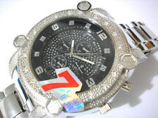 Iced Out Bling Bling Silver tone Bracelet 7-color Light Men's Watch Item 3914