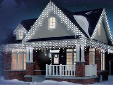 White 360 LED Christmas Icicle Snowing Xmas Lights Party Outdoor