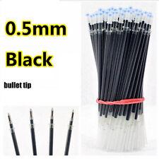 Portable 100pcs/lot Pen Refills 0.5mm Black Color Pens Refill Writing Supplies