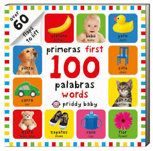 Primeras First 100 words / palabras 60+ flaps to lift  (Board Book) FREE ship$35