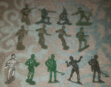 "Vintage Lot of Plastic 6"" Army Men - 13 Piece"