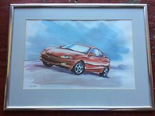 HYUNDAI COUPE J2 1996-99 EX DEALER?  52X39CM FRAMED PRINT / PICTURE