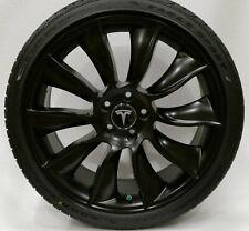 "Tesla Model Y 20"" (20 inch) True Turbine Wheel Tire Set w/TPMS Satin Black (Set)"