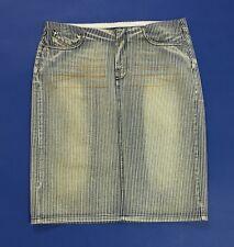 Diesel gonna jeans tubino w27 tg 41 usato donna minigonna righe blu vintage T638