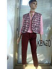 ENSEMBLE PANTALON KENZO MARRON+ GILET FLEURI + TOP ROSET 36 US 26