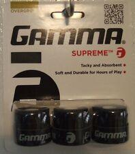 NEW Gamma Supreme Overgrip - 3 Pack - Tennis over grip Black