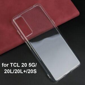 2PCS TCL 20 20 Pro 5G 20S 20 SE 20L 20L+ Soft TPU Silicone Case Back Cover Armor