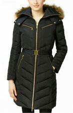 NWT Women Michael Kors Down Coat Zipper Chest Pockets, Black  XL MSRP: $249.00