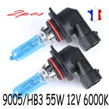2x 9005/HB3 55W Lumière Halogène Ampoules Phare de Voiture Lampe 12V 6000K Xénon