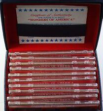 """Hamilton Mint """"Wonders of America"""" Proof .999 Fine Silver 50 Ingot Set as Issued"""