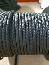 12MM Double Braided Rope Polyester Yacht Rope 25MTS Black