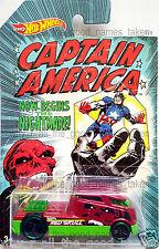 Mattel 2015 Hot Wheels Marvel CAPTAIN AMERICA Red Skull QOMBEE 8/8