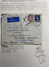 1936 Belgium Mixed Franking Airmail Cover Ffc To Lagos Nigeria Vía England