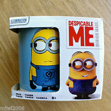 CERAMIC MUG Minions DESPICABLE ME Made featuring DAVE & STUART blue white boxed