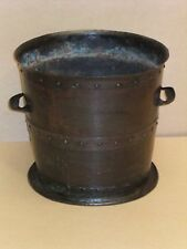 VICTORIAN COPPER COAL BIN  / LOG BIN / PLANTER.