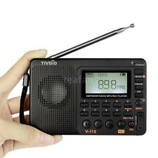 TIVDIO V-115 FM/AM/SW Mini Radio World Band Receiver MP3 Player Sleep Timer D0E5