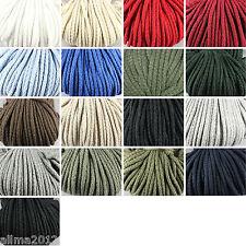 5 Meter 0,20€/m oder 100Meter 0,14€/m Baumwollkordel 5mm Kordel Baumwolle Schnur
