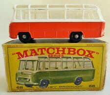 1965 LESNEY MATCHBOX No.68 MERCEDES COACH DIE CAST METALTOY