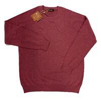 $1,000 Loro Piana Burgundy Cashmere Sweater Size XXL, EU 56 Made in Italy