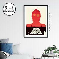 Star Wars A New Hope, Original Trilogy Movie Poster, C-3PO Fine Art Print