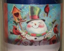 Magnetic Happy Snowman Birds Bird House Christmas Mailbox Cover Geoff Allen  NEW