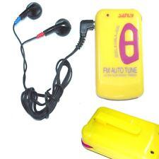 Mini Slim Portable Pocket FM scan Auto tune Radio + Earphone with clip