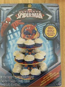 Spiderman Party 3 Tier Cake Stand