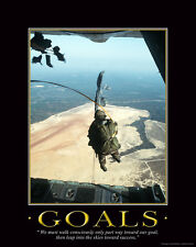 US Military Motivational Poster Art Marines Navy Army Airborne Skydiving  MILT06