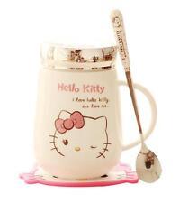 For Hello Kitty Ceramic Cup Tea Milk Coffee Mug 500ML c/w Spoon and Coasters