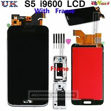 For Samsung Galaxy S5 i9600 G900F LCD Black Touch Screen Digitizer With Frame UK