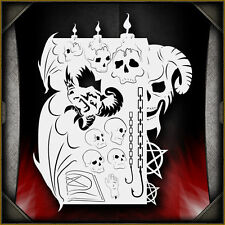 """Demonic Demise"" Airbrush Stencil Template Airsick"