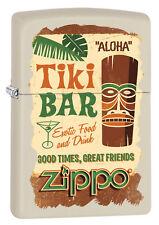 ZIPPO Feuerzeug TIKI BAR White matte Exotic Cocktail Aloha Zippo Logo NEU OVP