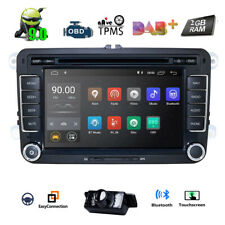 "7"" Android 9.0 Car Stereo DVD GPS Nav Head Unit for VW Golf MK5 MK6 Passat Jetta"