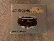 FOCAL MC 2X Tele Converter for MINOLTA 35mm Film Camera, with Case
