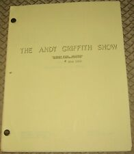 THE ANDY GRIFFITH SHOW ORIGINAL Oct 1964 TV Script BARNEY FIFE REALTOR  37 Pages