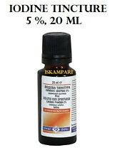 Iode Teinture/Solution 5 % 20 ml Antiseptique pour les plaies coupures et