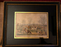 Four Etching By H. Alken Hand Painted By E. Duncan 1837. 32cmx25.5cm( Framed)
