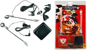 Kit interfono moto per casco coppia auricolari microfono