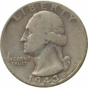 AMERIQUE ( U.S.A ) QUARTER DOLLAR (1/4 DOLLAR) 1943 WASHINGTON QUARTER TB+