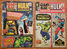 Lot of 2 Tales to Astonish Marvel Silver Age comics #'s 66 & 67 from 1965 Hulk
