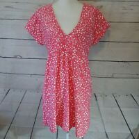 Athena Pick Your Fit Swim Cover Up Dress Size Large Pink & White Polka Dot