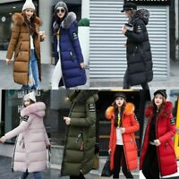 Women's Winter Slim Coat Hooded Jacket Parka Warm Long Padded Jacket Outwear