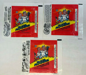 BUCK ROGERS TV PHOTO CARDS 2 Different UNFOLDED WRAPPERS Topps 1979