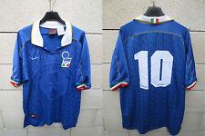 VINTAGE Maillot ITALIE Nike BAGGIO n°10 maglia ITALIA shirt 1995 L calcio