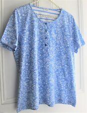 Damart Pretty Blue 100% Cotton T~ Shirt ~ Size 16-18💙💙💙