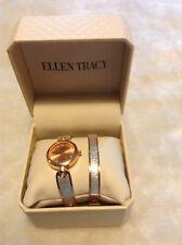 Women's New Ellen Tracy Watch Bracelet Set with Box