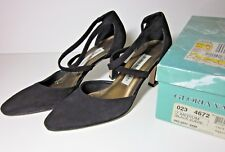 GLORIA VANDERBILT Women's Shoes - Black Suede Heels (Sz 7) Strap Pumps