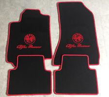 Autoteppich Fußmatten für Alfa Romeo 159 schwarz rot 4tlg. Logo mit Schrift Neu
